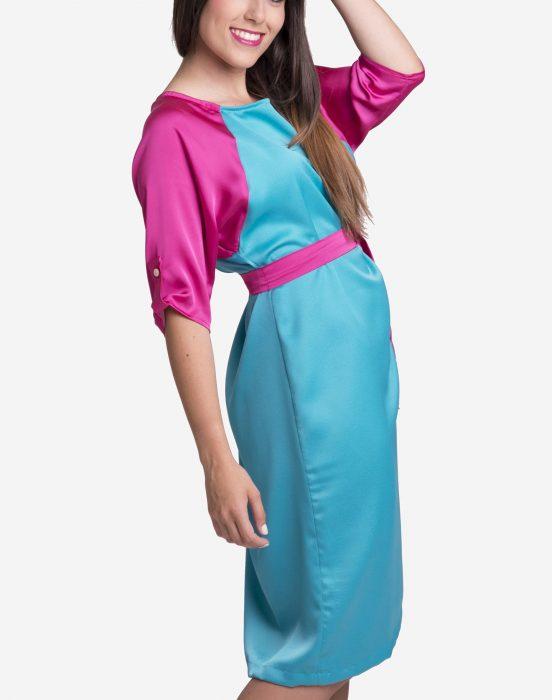 vestido-de-seda-bicolor
