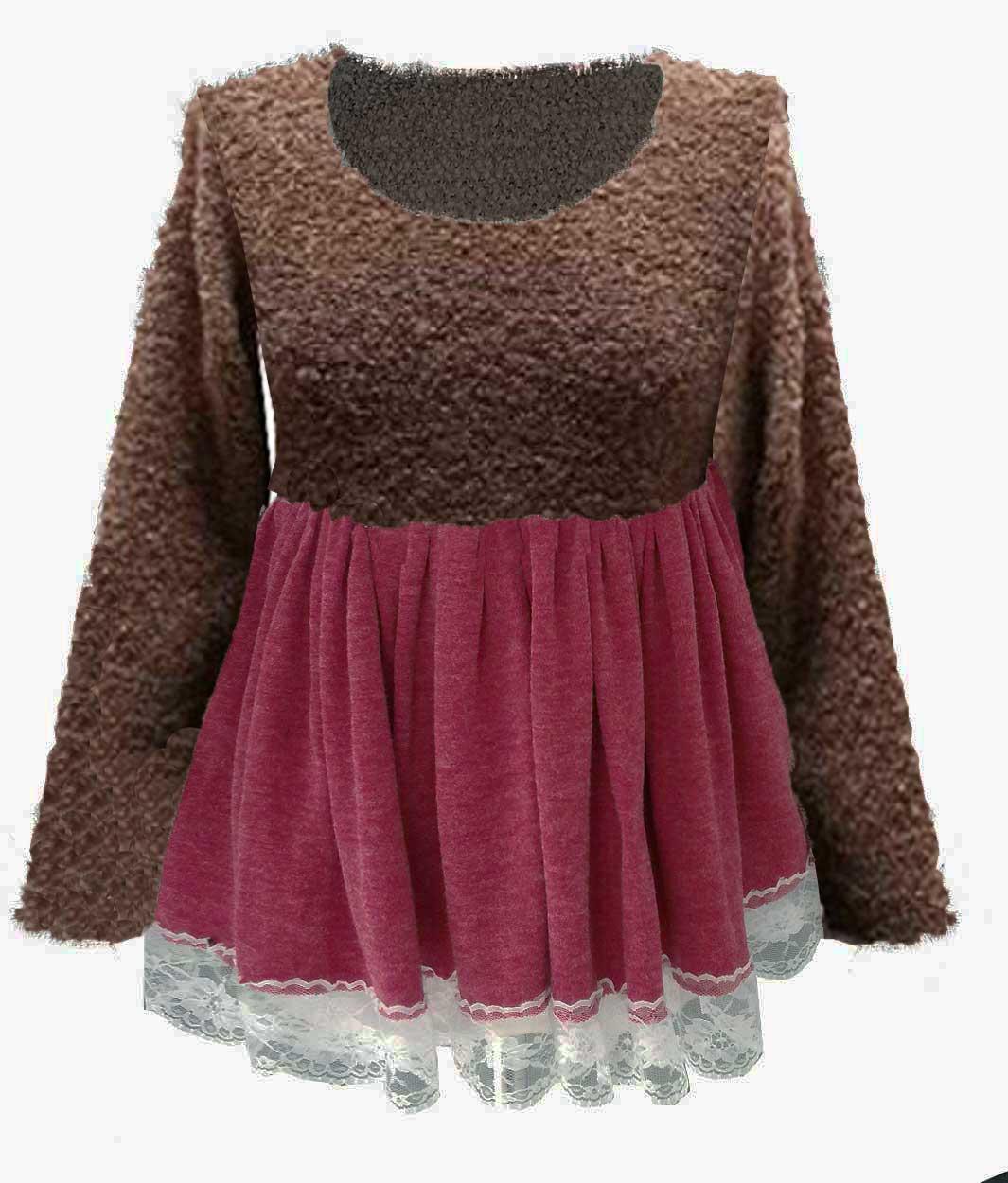 jersey-de-punto-caliente-mujer-bicolor