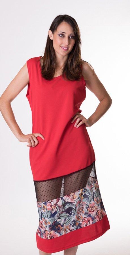 vestido-recto-rojo