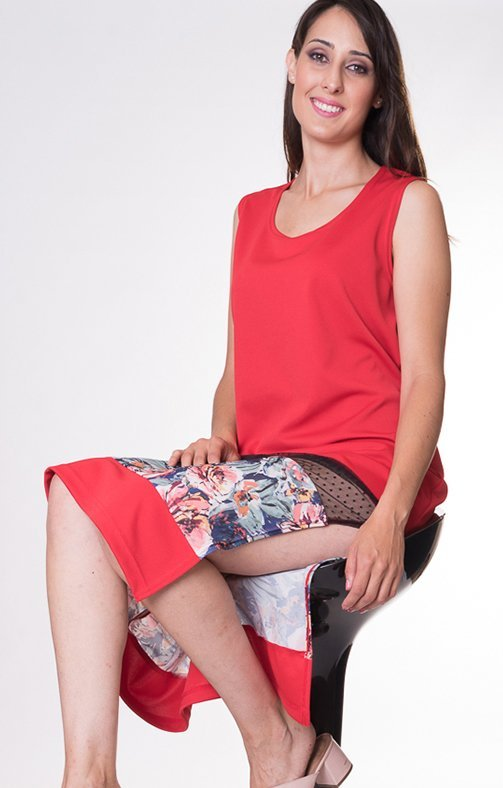 vestido-rojo-recto
