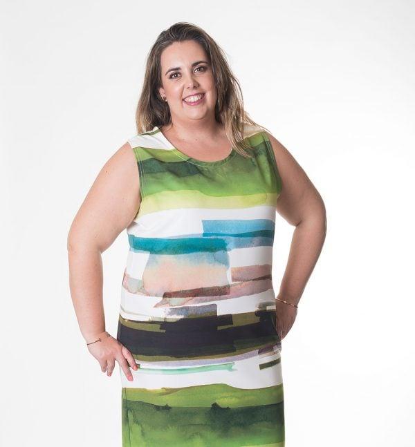 vestido-en-talla-grande-verde