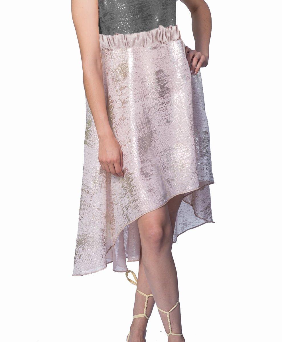 falda-dorada-asimetrica