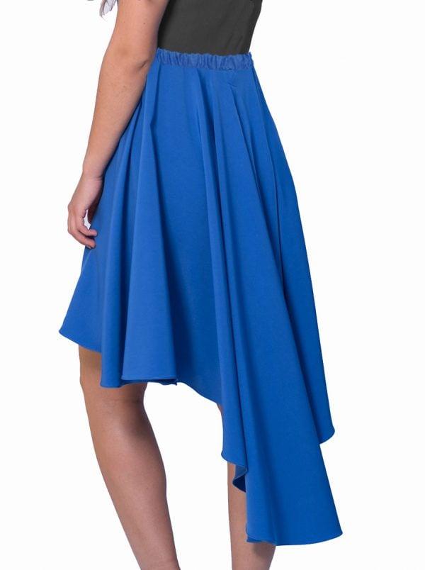 falda-cola-de-pato-azul