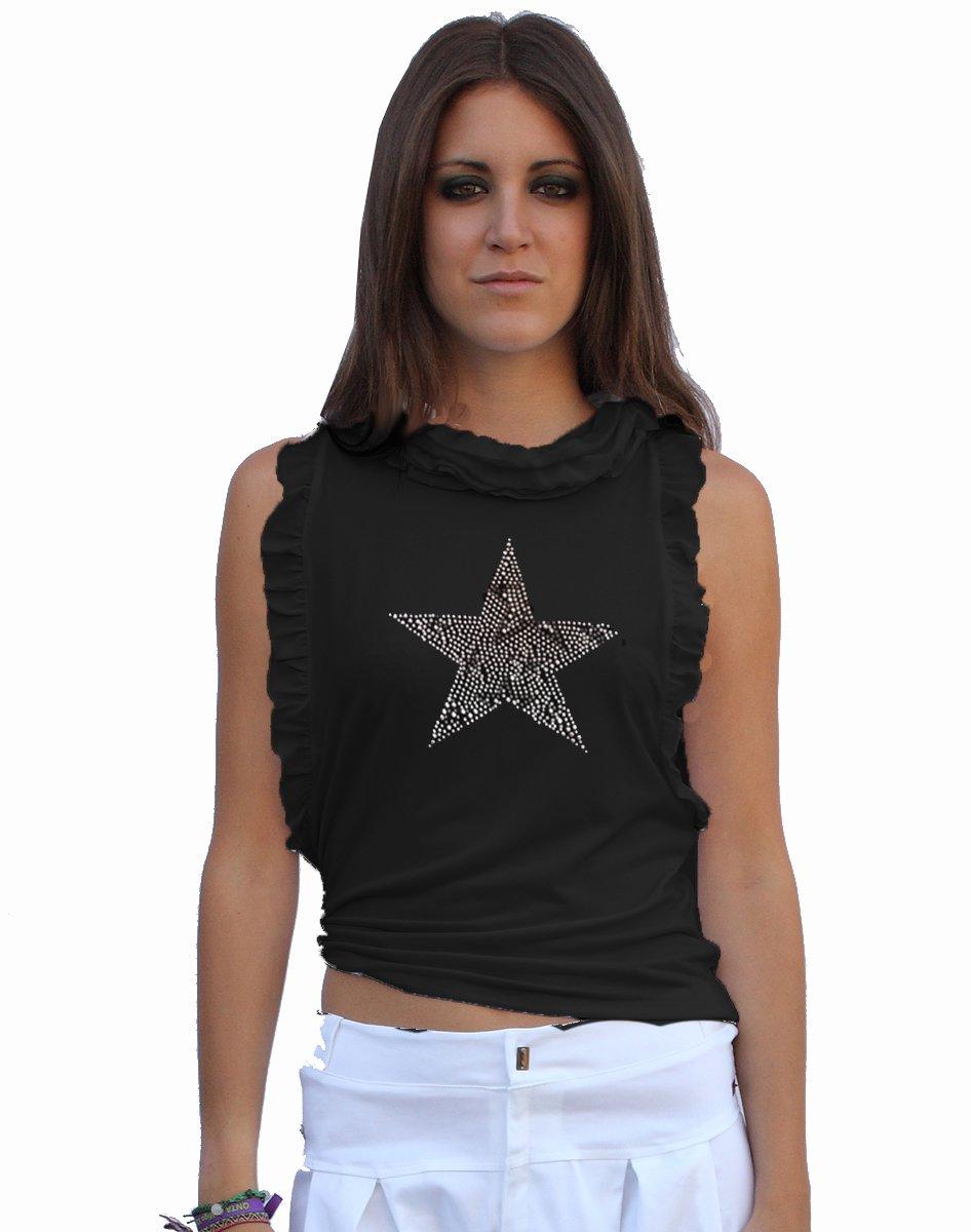 camiseta-con-estrella-de-strass-ajustada