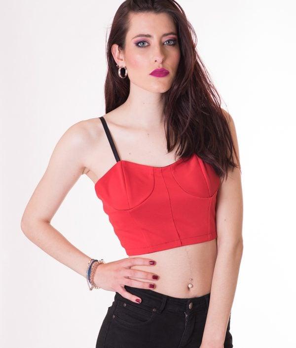 crop-top-rojo