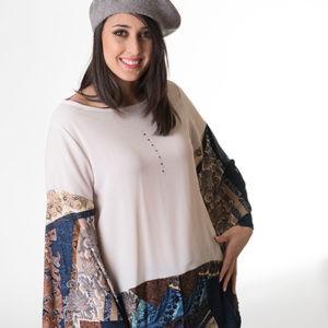 blusa-manga-campana-camisa-de-mujer