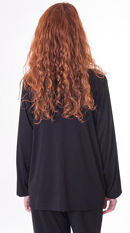 camiseta-de-mujer-de-color-negro-algodon