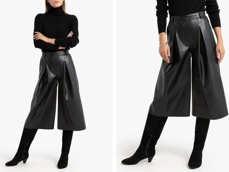 falda-pantalon-de-cuero