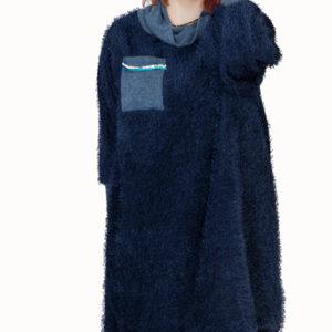 vestido-de-manga-larga-azul