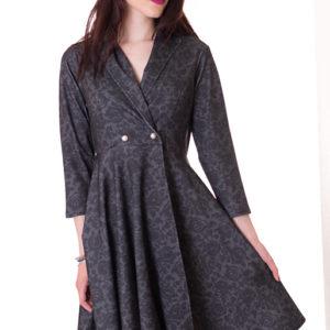 vestido-falda-campana-de-otoño