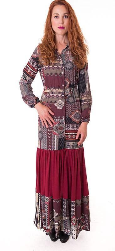 vestido-granate-camisero