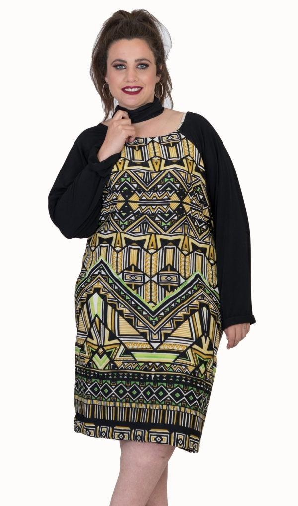 vestido-talla-grande-amarillo