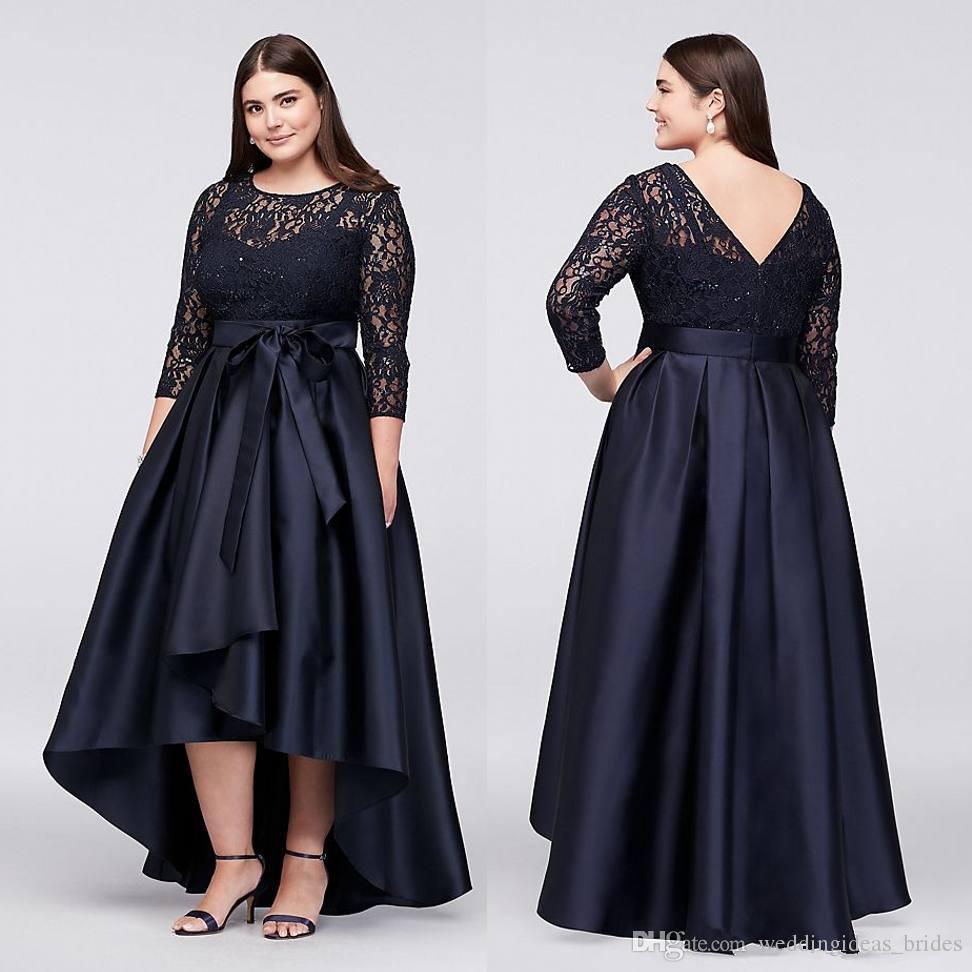 vestido-marino-brocado-talla-grande