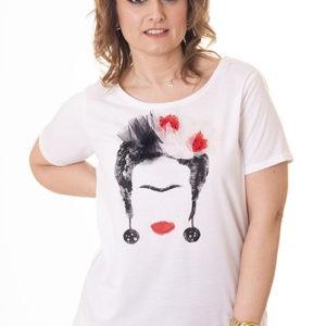 camiseta-frida-kahlo-camiseta-blanca