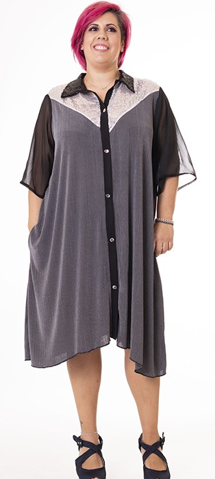vestido-de-talla-grande-gris