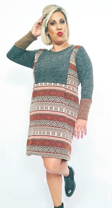 vestido-de-punto-talla-grande-corto