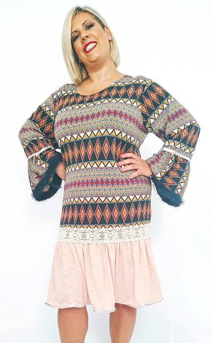 vestido-invierno-estampado-colores-mangas-anchas