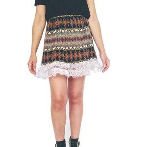 falda-de-rizo-mini-falda-encaje