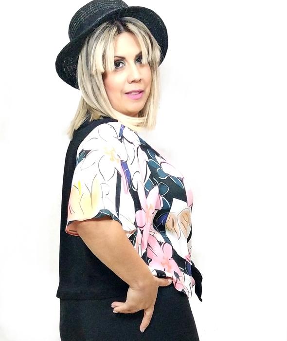 blusa-combinadas-dos-colores-manga-corta