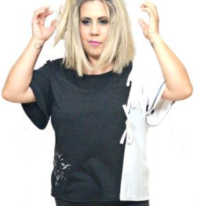 camiseta-negra-yblanca-de-mujer